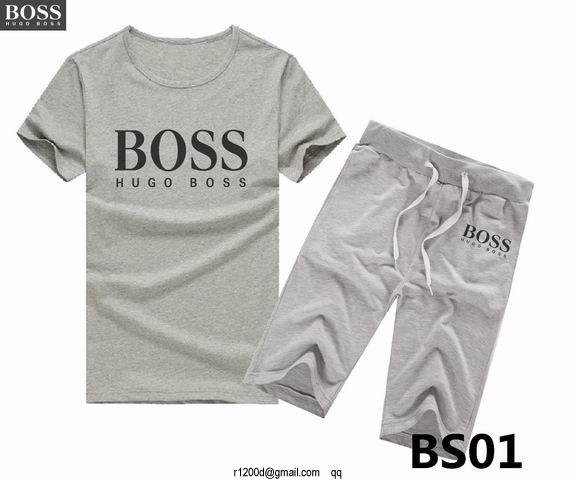 Vente Ensemble Short Tee Shirt Hugo Boss,